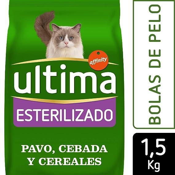 Ultima Pienso para Gatos Esterilizados Bolas de Pelo con Pavo - 1500 gr: Amazon.es: Amazon Pantry