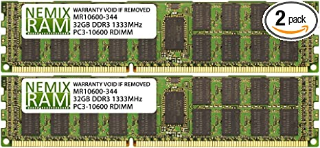 Samsung 16GB 4Rx4 PC3-10600R 1333Mhz DDR3 240pin ECC Registered RDIMM Memory RAM