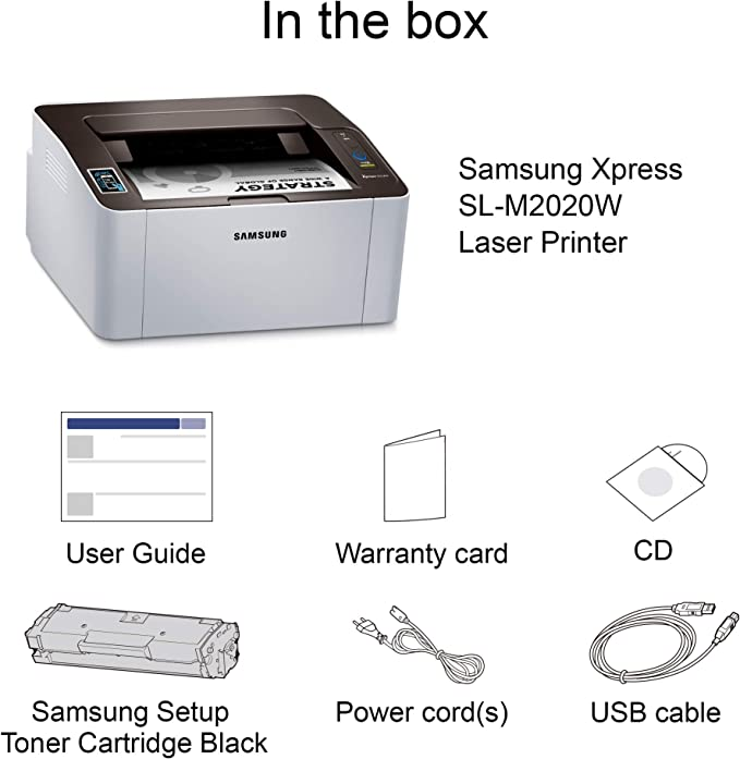 HP Xpress SL-M2020W 1200 x 1200 dpi A4 WiFi - Impresora láser ...