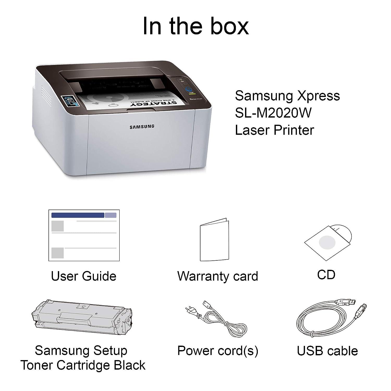 Samsung SL-M2020W/XAA Wireless Monochrome Printer (SS272H)