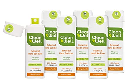 Amazon Com Cleanwell Botanical Hand Sanitizer Spray Orange