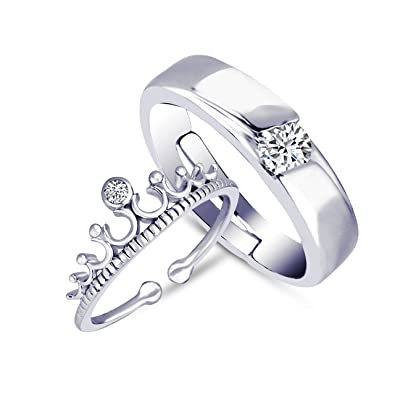 Buy Amaal Valentine Gifts Adjustable Silver Combo Couple Finger