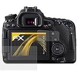 Canon EOS 80D Displayschutzfolie - 3er Set atFoliX FX-Antireflex blendfreie Folie Schutzfolie