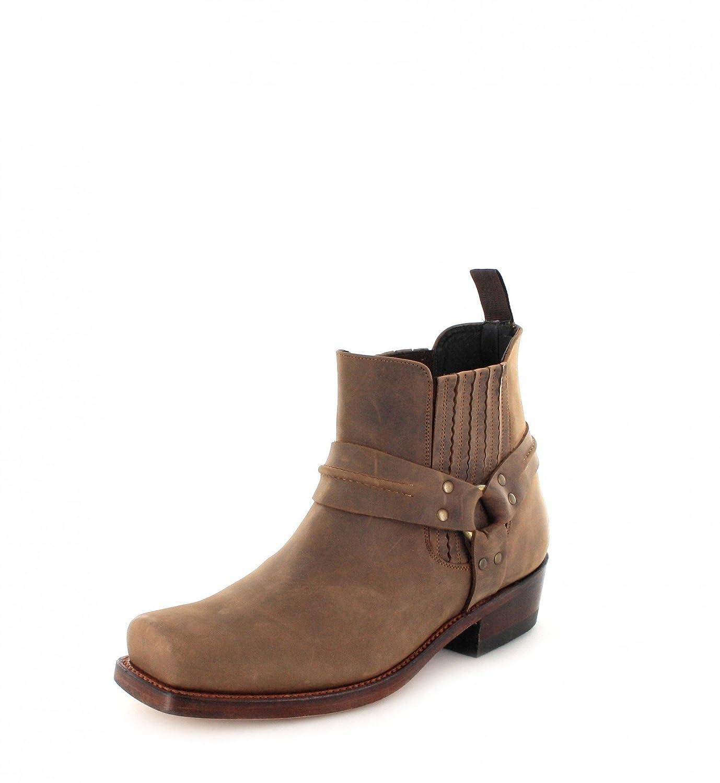 Mayura Boots MB004 - Biker Boots de cuero unisex37|marrón - Sadale