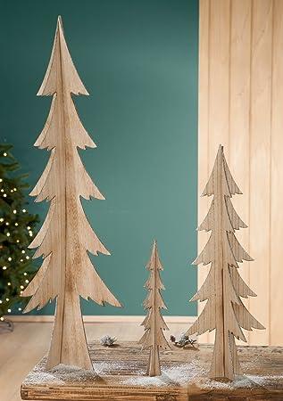 Weihnachtsdeko Baum Holz.Tannenbaum Holz Natur Mit Glitter 60 Cm G21432 Baum Weihnachtsdeko