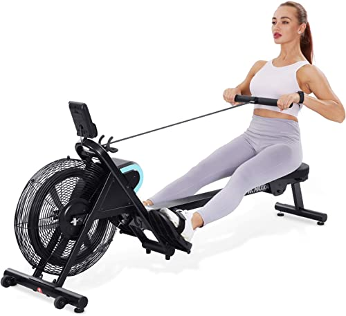 MaxKare Rowing Machine Foldable Rower Air Resistance Adjustable