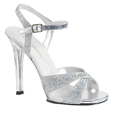 Higher Heels Fabulicious Womens High Heel Glitter Sandals