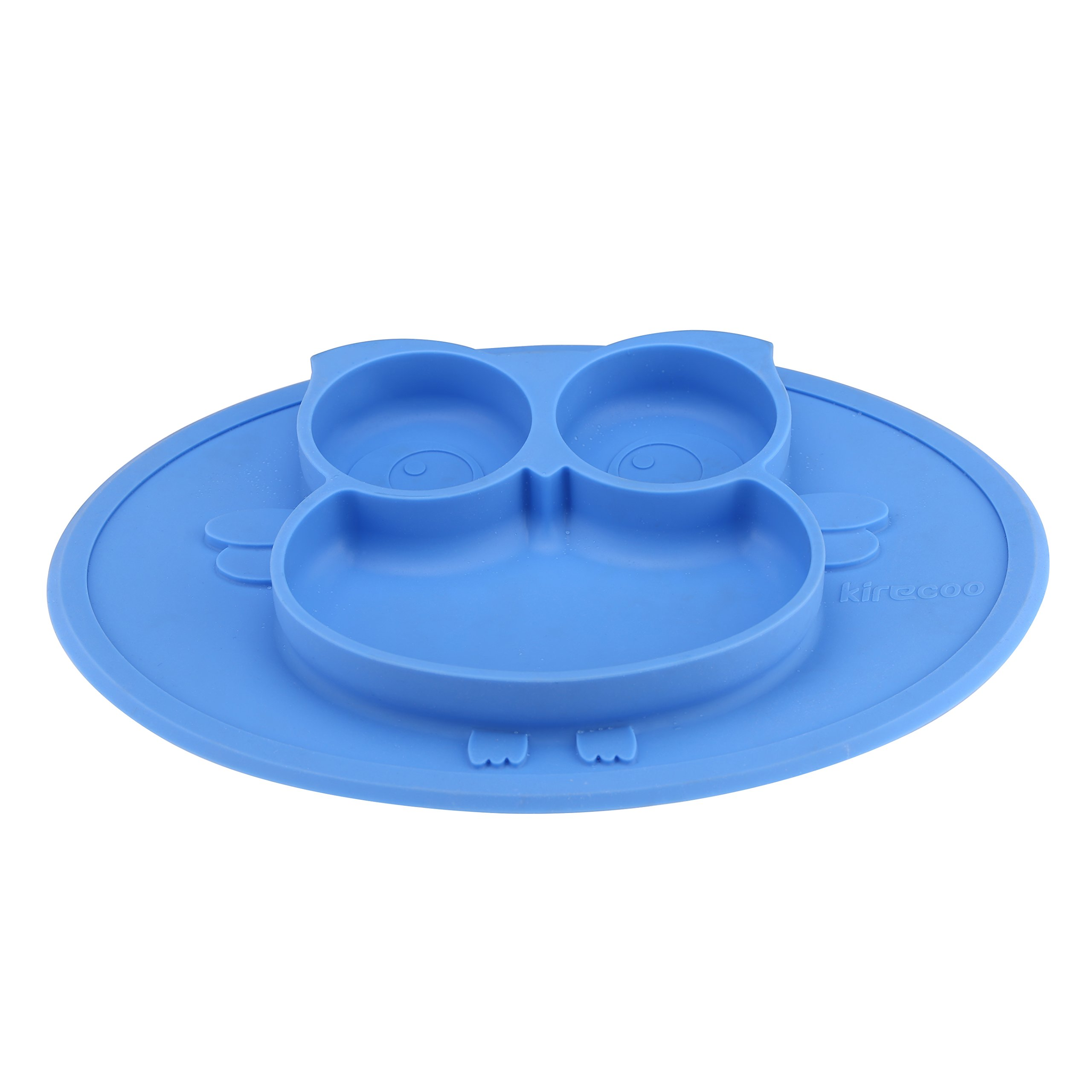Kirecoo Babies Highchair Feeding Tray Round Silicone Suction Owl ...