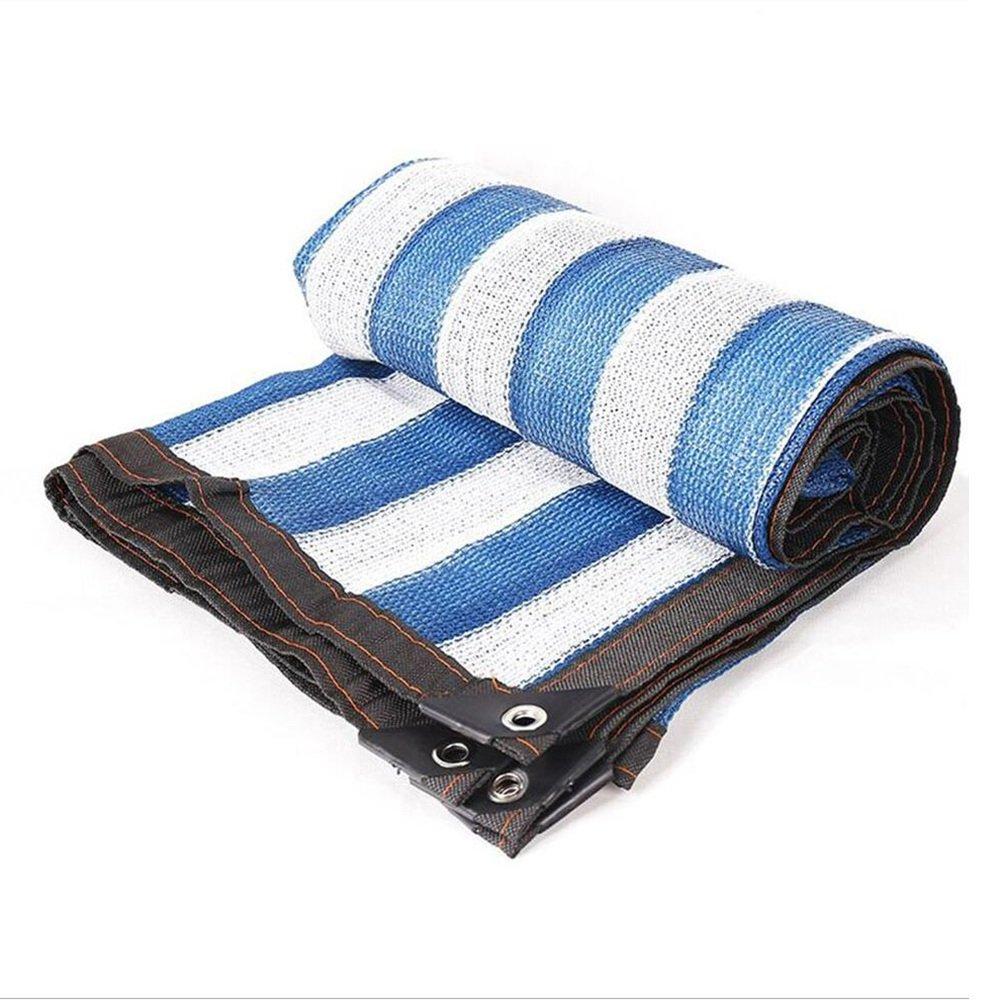 ZHANWEI オーニング シェード遮光ネット 日焼け止め 防塵 別荘 パティオ ルーフ 青 白 ストライプ 断熱 ネットワーク、 カスタマイズ可能なサイズ (色 : Blue+White, サイズ さいず : 6x10m) 6x10m Blue+White B07PRVNHVX