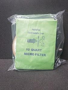 10 Quart Back Pack Vac Bags MicroFine - Pack of 10
