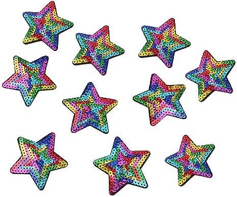 Yalulu - 10 parches bordados con lentejuelas para coser o planchar ...