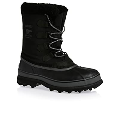 Sorel Men's Caribou Reflective Wool Waterproof Nylon Winter Boot Black-Black-10 Size 10 cFzDct8eM