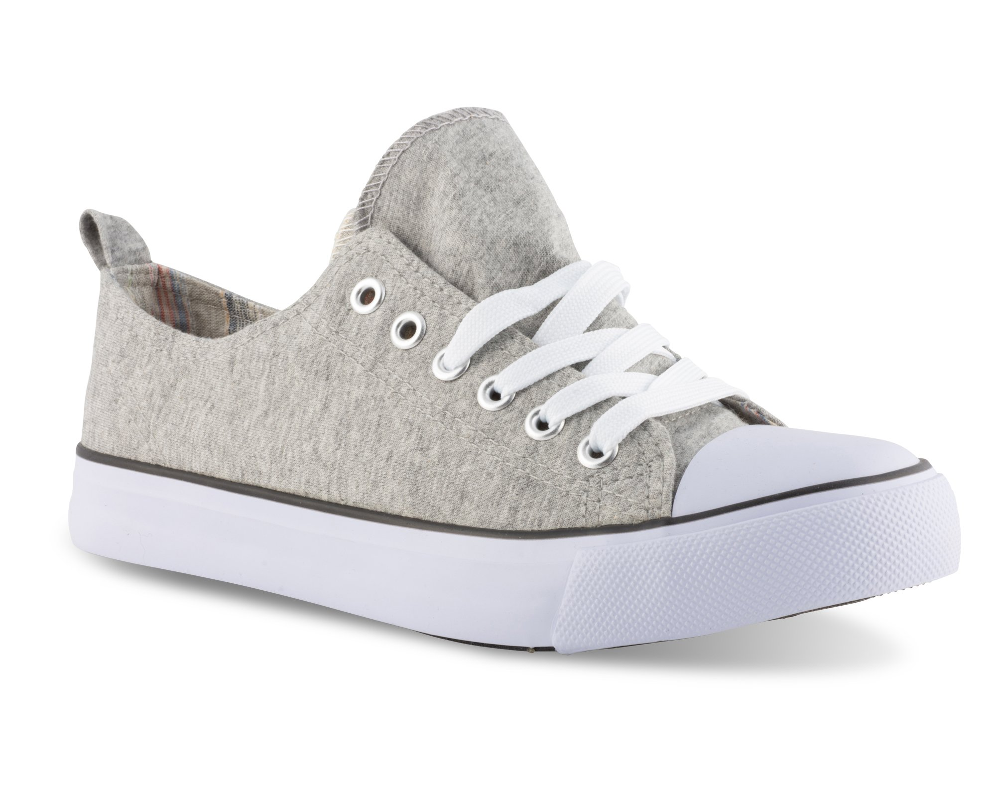 Twisted Women's Kix Printed Double Tongue Fashion Sneaker - KIXDT21 Grey, Size 6