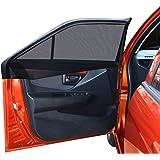 ウインドーネット 2枚入り 虫よけ 車中泊 車用網戸 換気 リアドア用 遮光サンシェード 車カーテン 日除け