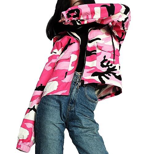 Chaquetas de bolsillo casuales Yying Linterna Manga de camuflaje
