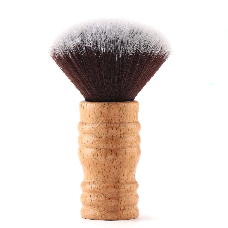 Segbeauty Barbier Nackenbürste Holzgriff, Weiche Borsten Nackenpinsel Haarschnitt Neck Duster, Salon Haare Schneiden Reinigungswerkzeug für Friseur Stylist Seg-Beauty