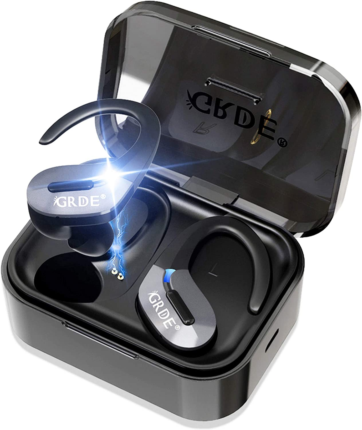 Wireless Earbuds, Bluetooth 5.0 Headphones True Wireless Earbuds Sports in-Ear TWS Stereo HiFi Sound Bluetooth Earbuds 30H Playtime Wireless Earphones with Charging Case 2019 Version