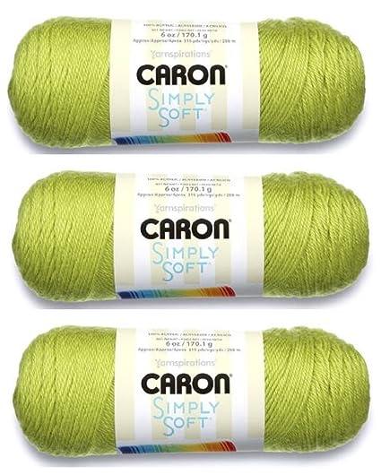 3Pk Crafts Spinrite H97003-9739 Simply Soft Solids Yarn-Soft Green Needlecrafts & Yarn