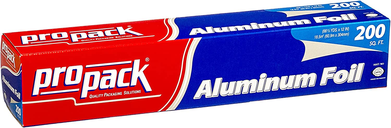 Propack Aluminum Silver Foil 12 Inch Width 200 Feet Length