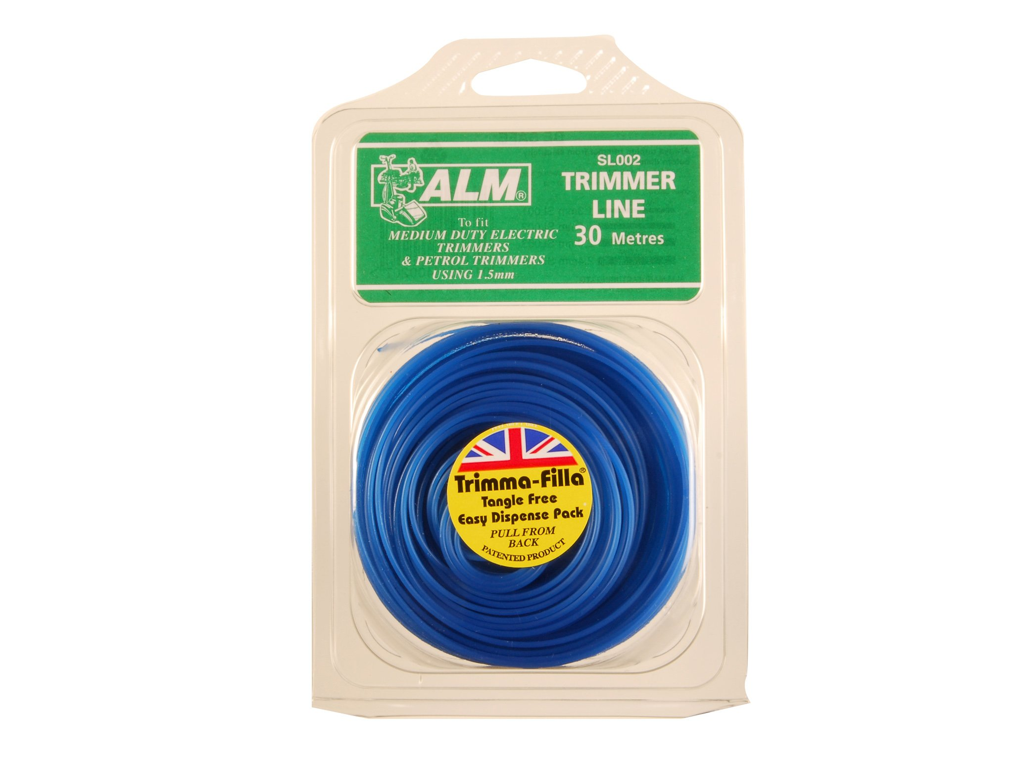 1.5mm x 15m Blue British Trimmer//Strimmer Line Wire Cord Flymo//Bosch