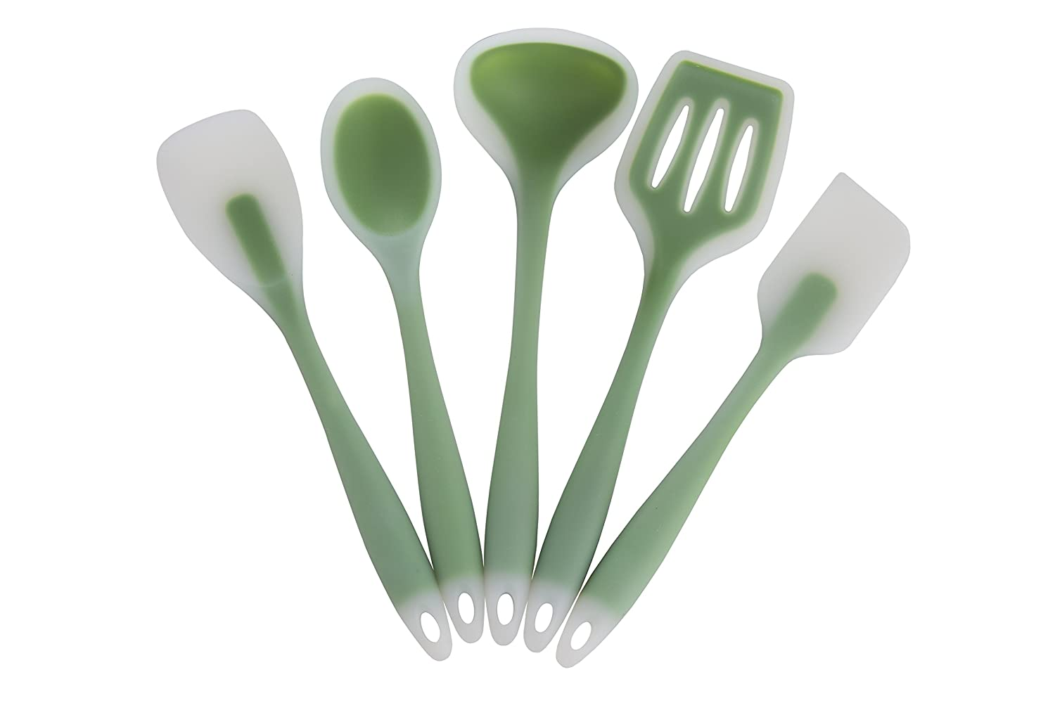 Vintage green kitchen utensils