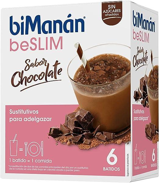 biManán - beSLIM - Sustitutivos para Adelgazar - Batido Chocolate - 6uds 300 gr: Amazon.es: Salud y cuidado personal