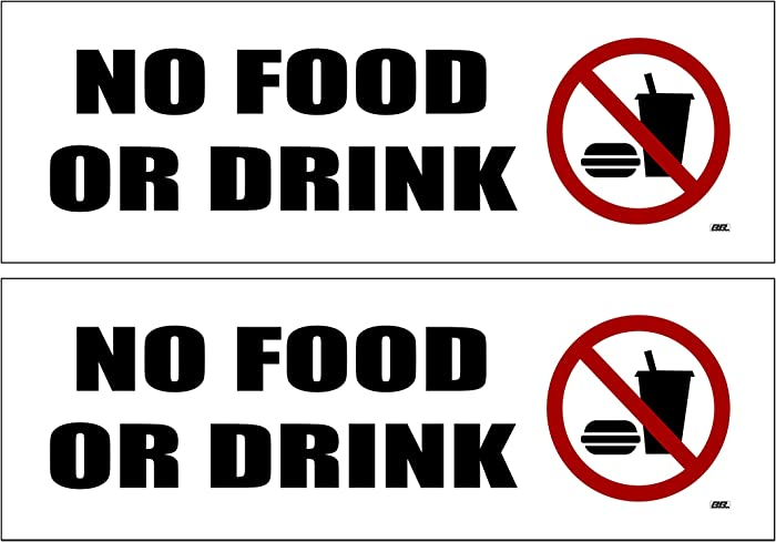 Top 9 No Food Or Drink Decal