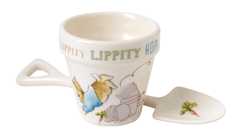 Beatrix Potter Peter Egg Cup and Spoon Set Enesco A27502