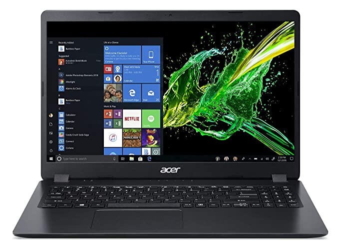 Acer Aspire 3 Thin 8th Gen Core i5 15.6 inch Thin and Light Laptop  8 GB/1 TB HDD/Windows 10 Home/Shale Black/1.9kg , A315 54 Laptops