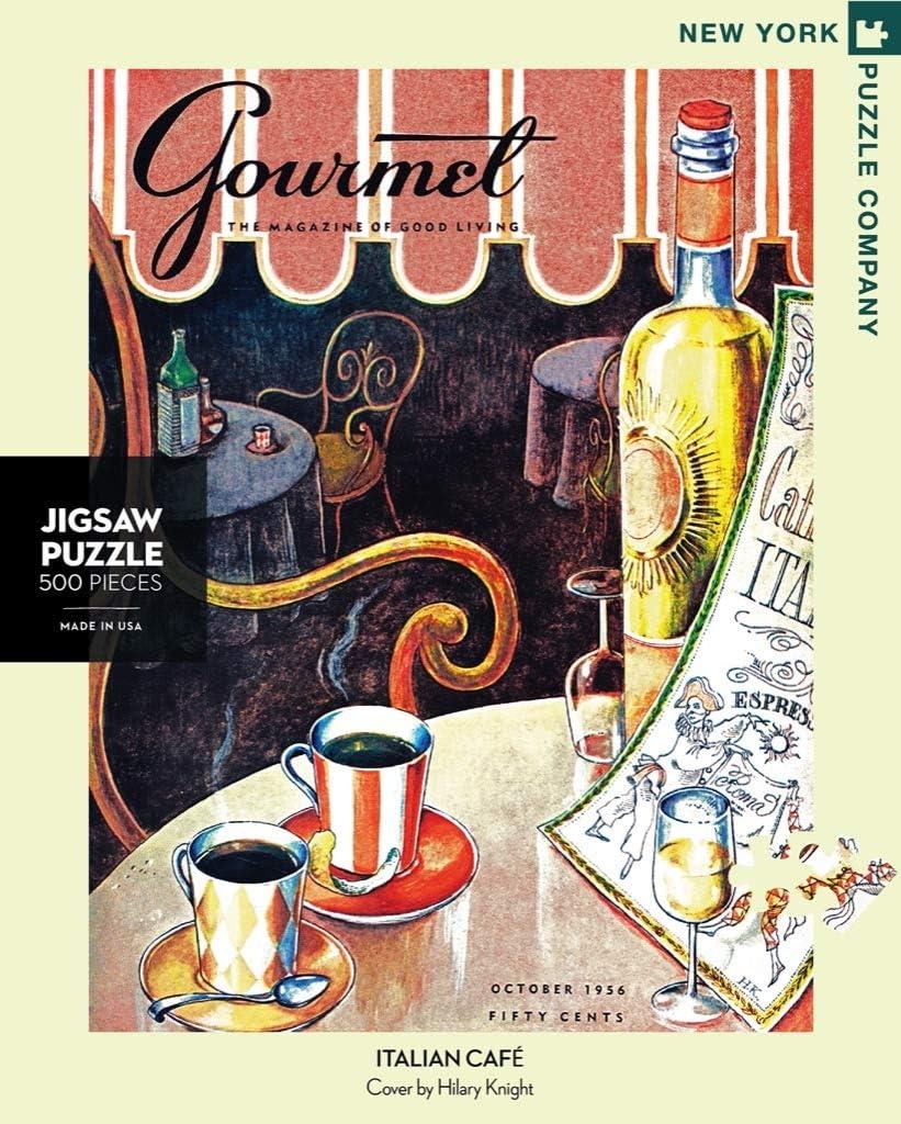 Gourmet Italian Caf/é New York Puzzle Company 500 Piece Jigsaw Puzzle