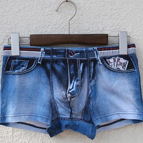Calzoncillos Boxer para Hombre Moda 3D Estampado Lavados Cowboy imitación Personalizadas Ropa de Dormir Atractivo Briefs Pantalones Cortos de Ropa Interior MMUJERY: Amazon.es: Ropa y accesorios