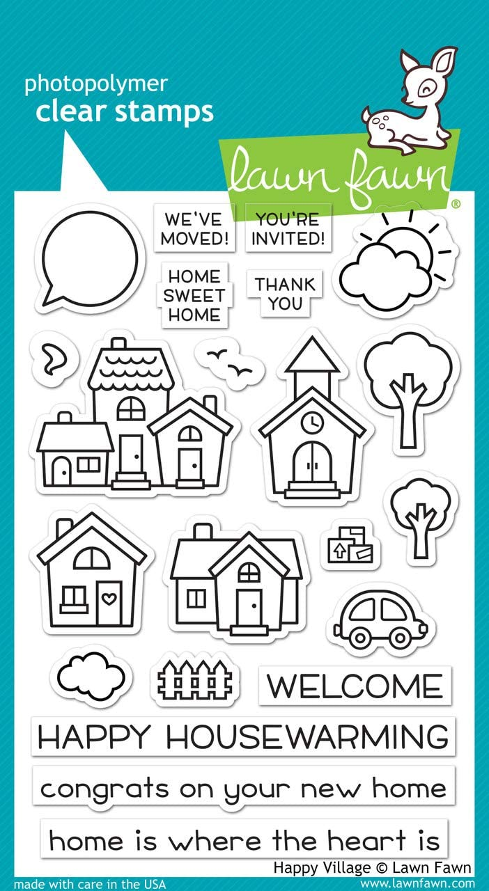 3 x 4 Lawn Fawn Clear Stamp Set Easter Party Set of 16