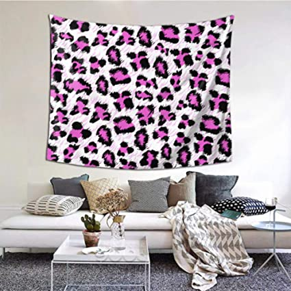 N A Tapestry Bedroom Beautiful Pink Leopard Skin Wall Tapestry For Kids 60x51 Inches 152x130cm Wall Hanging Art Home Decor Polyester For Living Room Bedroom Dorm Amazon Co Uk Kitchen Home