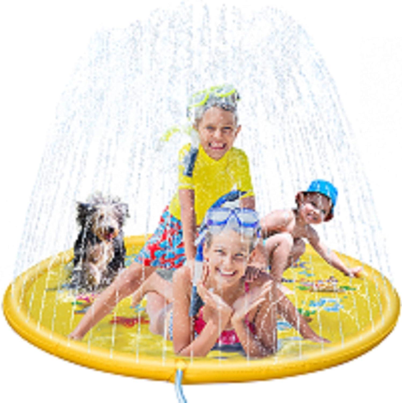 Splash Pad Sprinkler for Kids 68 Outdoor Water Toys for 2 3 4 5 6 7 8 Years Old Boy Girl Sprinkler Pool for Kids Toddler Baby Sprinkler-Splash-Pad--Water-Toys