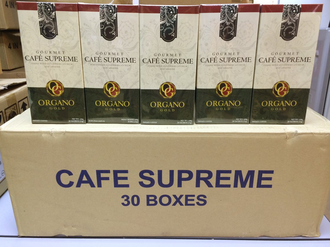 10 Box of Organo Gold Cafe Supreme 100% Certified Ganoderma Extract Sealed