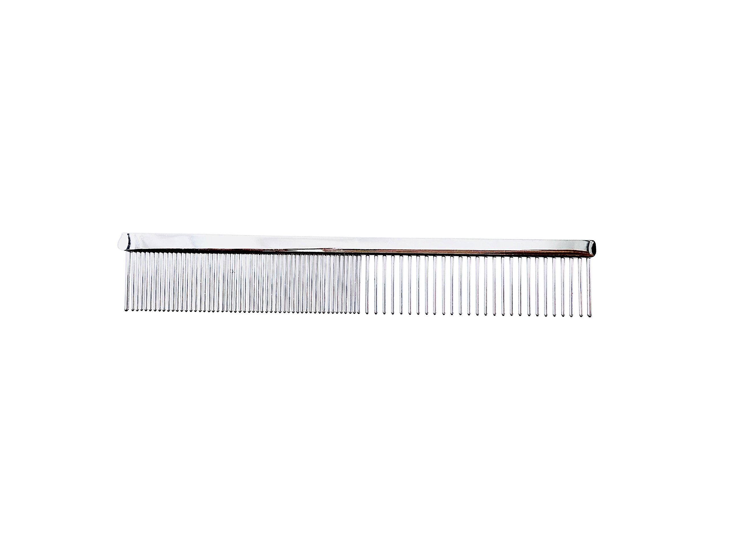 """ShearsDirect Pawprint Heart 5"""" Comb with Med/Fine"""