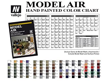Amazon Vallejo Model Air Hand Painted Color Chart Toys Games