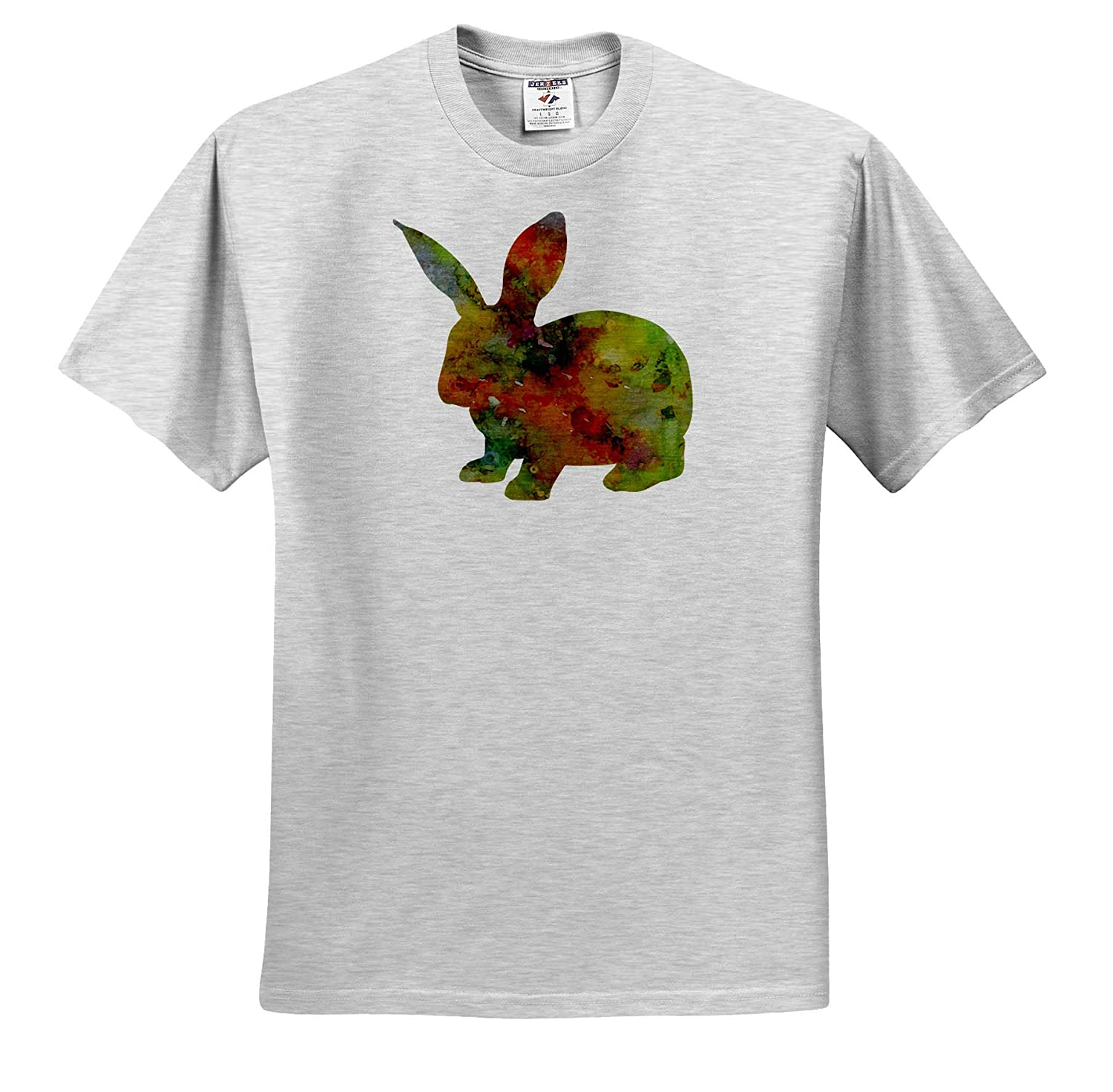 Adult T-Shirt XL ts/_309330 Watercolor Rabbit 3dRose Cassie Peters Rabbits