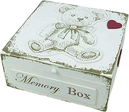 Oso de peluche Memory Box bautizo New born regalo por nacimiento ...