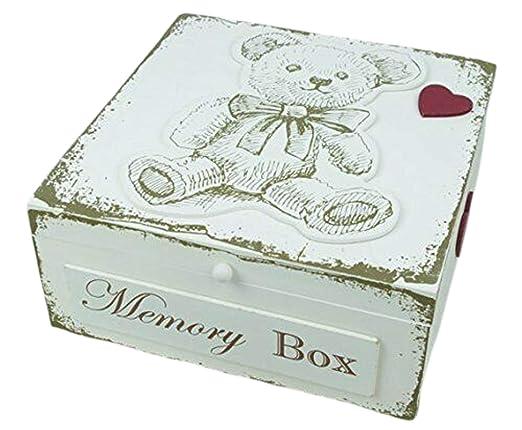 Recuerdos Para Bautizo Con Foto Del Bebe.Oso De Peluche Memory Box Bautizo New Born Regalo Por