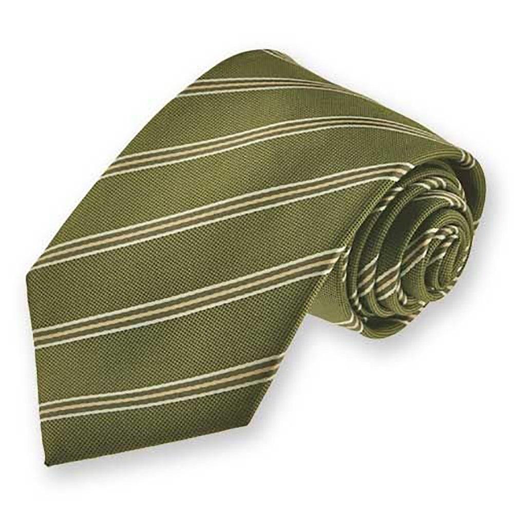 TieMart Boys Moss Green Melvin Stripe Necktie