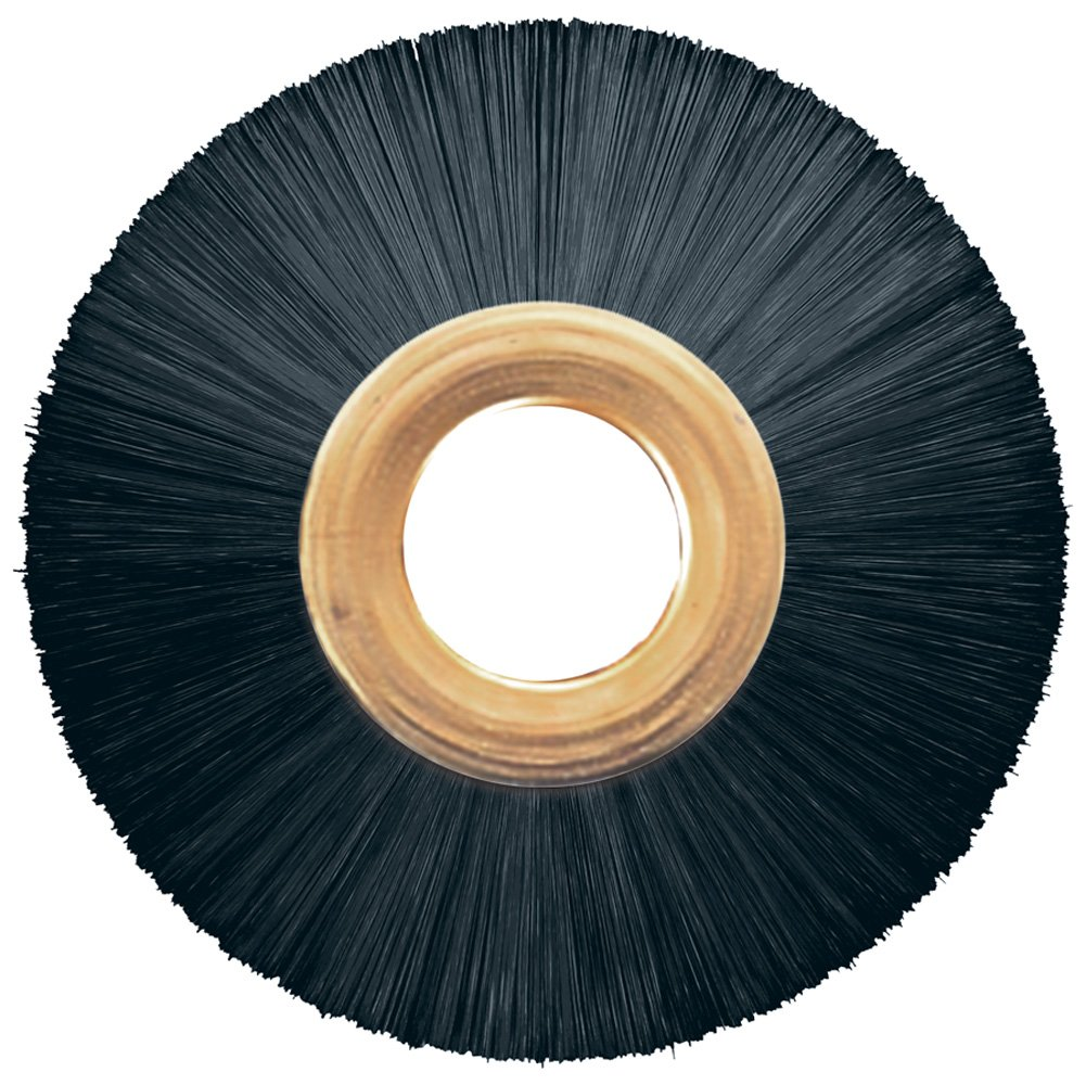 PFERD 84343 Power Copper Center Non-Wire Wheel Brush, Nylon Bristles, 3' Diameter, 0.016' Wire Size, 1/2' Arbor, 20000 Maximum RPM, 1' Trim Length