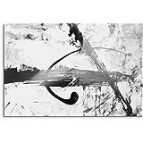 Abstrakt 991 - 120x80cm SCHWARZ-WEISS Bilder - Wandbild Kunstdruck in XXL Format - Fertig Aufgespannt – TOP - Leinwand - Wand Bild - Kunst Bild - Wandbild abstrakt XXL