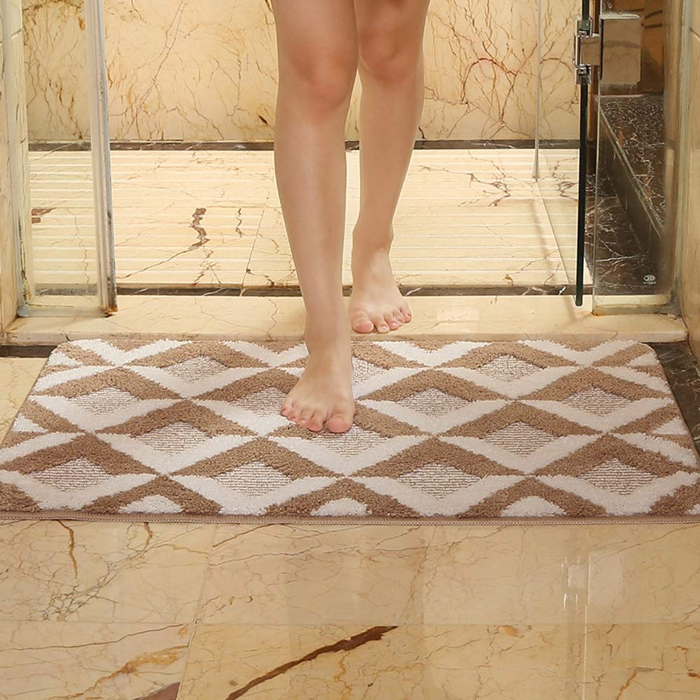 Alfombra zaixi Esteras tridimensionales del Piso 3D Cuarto de baño Cuarto de baño Aseo Puerta del baño Absorbente de Agua Puerta de Entrada Puerta Puerta (Color : Brown, Tamaño : 40 * 60cm)