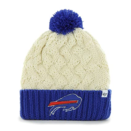 47 Buffalo Bills Women s 2-Tone Matterhorn Beanie Hat with Pom - NFL Ladies 86b3b6b80375