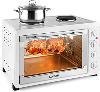 Klarstein Masterchef 60 Horno eléctrico Mini con Placas de cocción ...