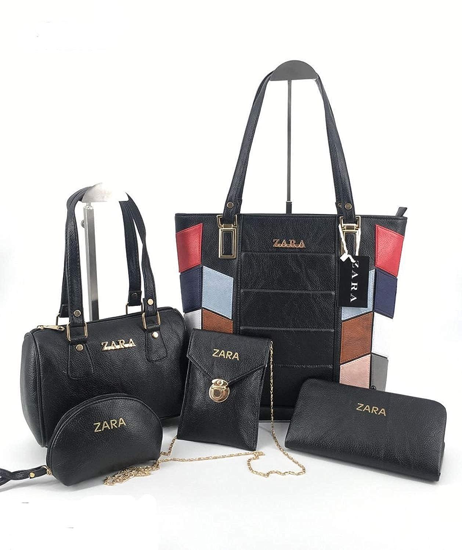 0e88aab14e ZARA Leather Handbag, Slingbag, Sholder Bag and Wallet (Black ...