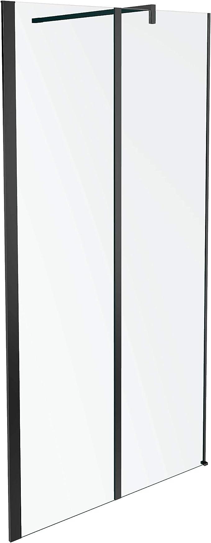Jacob Delafon Serenity -Mampara de ducha fija 120 cm, perfilería acabado negro Ref. E14W120-BLV: Amazon.es: Bricolaje y herramientas