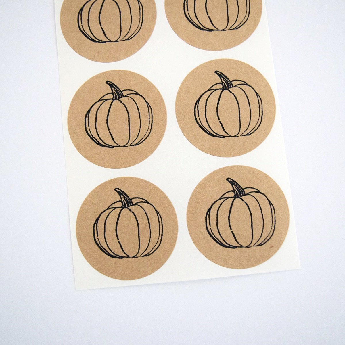 Pumpkin Stickers, Rustic Round Envelope Seals and Labels by Once Upon Supplies, for Autumn Themed Parties, 1.5'', 30 Stickers
