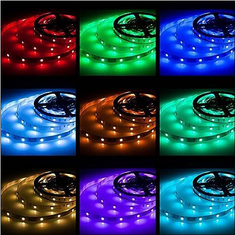 Storslåede Amazon.com: Rxment RGB LED Strip Lights with Remote 5 Meter 16.4 QP04